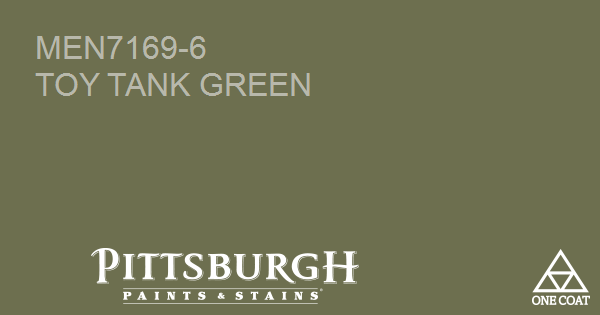 Paint Color Toy Tank Green