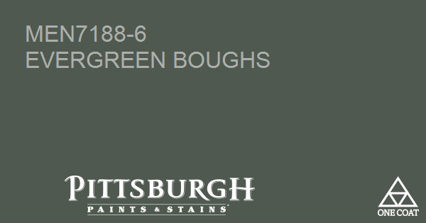 Paint Color Evergreen Boughs